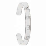 Sterling silver ladies feature hallmark flat torque Bangle 26g